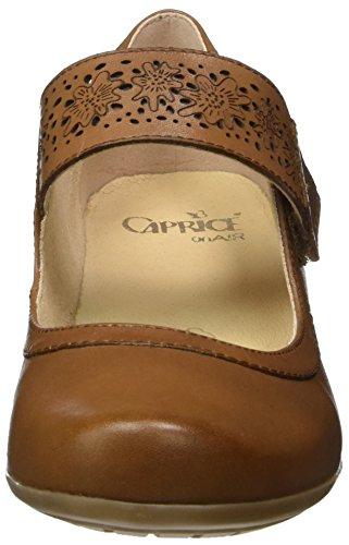 Caprice 24300, Sandalias con Cuña para Mujer Marrón (Cognac)
