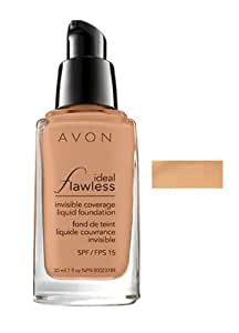Avon Ideal Flawless Invisible Coverage Liquid Foundation Natural Beige SPF 15