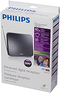 Philips SDV6224/12 - Antena de TV, negro