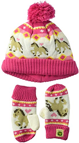 John Deere Girls' Toddler Winter Cap, -