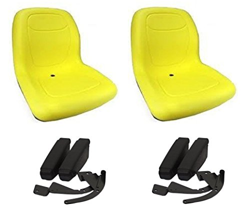 Ferris Gator ((2) Yellow HIGH BACK Seats w ARM RESTS for Gator XUV 620i, 850D, 550, 550 S4 UTV by The ROP Shop)