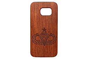 Samsung Galaxy S7 Black Walnut Wooden Phone Case Custom Engraved - Choose Your Design