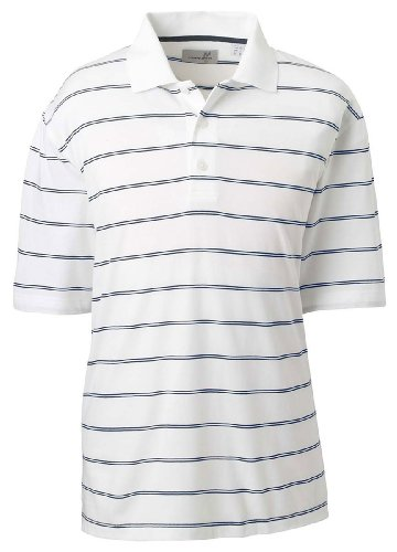 Ashworth Jersey Cotton (Men's Ashworth 3rd Groove Performance Jersey, White/Navy, S)