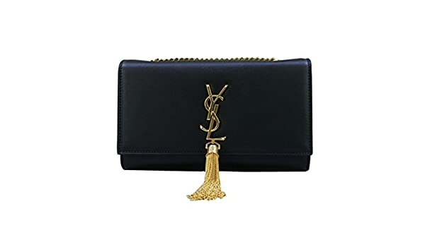 26c19d170e5 YSL Saint Laurent classic plain gold chain shoulder bag (large): Amazon.ca:  Shoes & Handbags