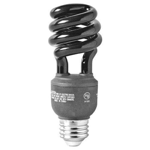 GE Lighting 78957 Energy-Smart CFL BlackLight 13-Watt (25-watt replacement) T3 Spiral Light Bulb with Medium Base, 1-Pack -