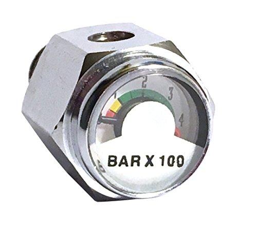 Aeris Metric Pony Bottle Pressure Gauge BAR Pressure Indicator (Pressure Gauge Pony)