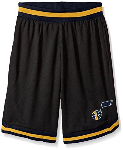 fan products of NBA Men's Utah Jazz Mesh Basketball Shorts Woven Active Basic, X-Large, Black