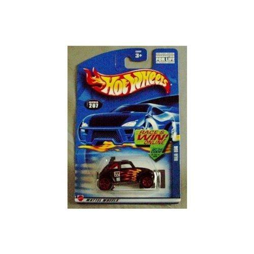 Hot Wheels 2002 Baja VW Bug #207 Mainline BLACK (Baja Bug Hot Wheels)