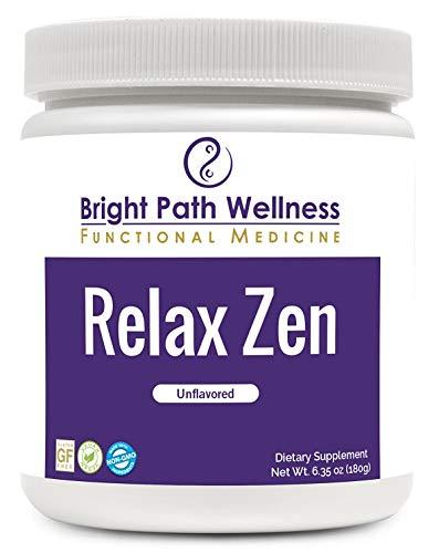 Relax Zen - 60 Servings - Powder, Non GMO, Gluten Free, Inositol, GABA, Taurine, L-Theanine, Magnesium, Stress Relief (Un-Flavored)