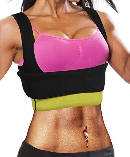 Ursexyly Fat Burner Sweating Vest Shirt Neoprene Slimming Sauna Suit Tank Top for Women Christmas (Black Sauna Vest, S, US 0-6) (Exercises For A Flatter Stomach And Sleeker Torso)