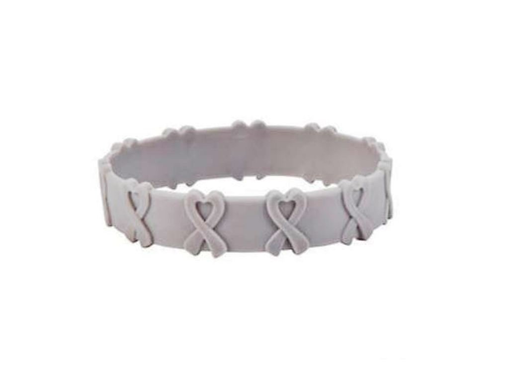 100 GRAY AWARENESS POP-OUT BRACELETS! SUPPORT DIABETES, BRAIN CANCER, ASTHMA SUPPORT AWARENESS