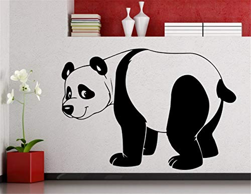 openaon Quotes Art Decals Vinyl Removable Wall Stickers Stangding Panda Cute Funny Animal for Kids Nursery Bedroom