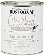 Rust-Oleum 285140 Ultra Matte Interior Chalked Paint 30 oz, Linen White, 30 Fl Oz