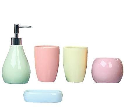 Accessori Bagno Portasapone.Jasno 5x Ceramica Set Accessori Bagno Portasapone Dispenser