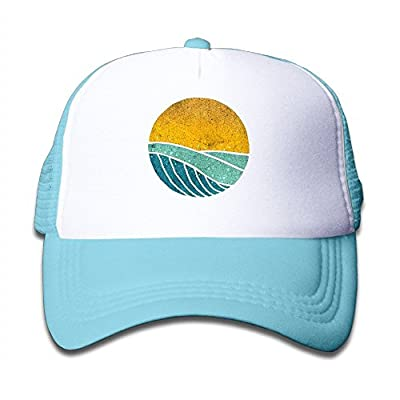 Vintage Sea Wave On Tides Summer Mesh Snapback Caps Small Hats for Kids from BHUIA