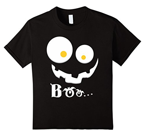 Kids Boo Y'all Halloween Shirt Preppy Southern Ghost 4 Black