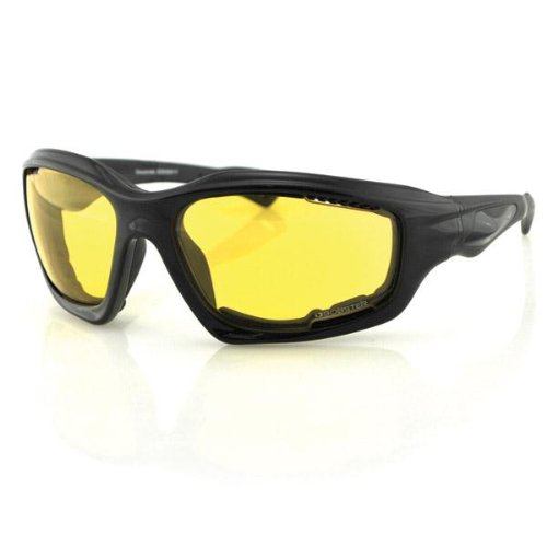 Bobster Desperado Square Sunglasses, Black Frame/Yellow Anti-Fog Lens with - Mad Dog Glasses