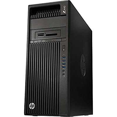 HP Workstation Z440 Desktop PC - Intel Xeon E5-1607v4 3.1GHz Quad Core CPU, 8GB DDR4, 256GB SSD, DVDRW, No Graphics Included, 8X USB 3.0, Win 10 Pro 64-bit