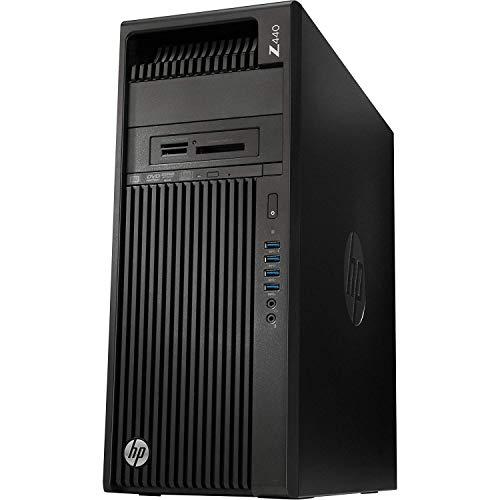HP Workstation Z440 Desktop PC - Intel Xeon E5-1607v4 3.1GHz Quad Core CPU, 8GB DDR4, 256GB SSD, DVDRW, No Graphics Included, 8X USB 3.0, Win 10 Pro 64-bit
