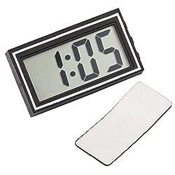 Digital Lcd Car Dashboard Desk Date Time Calendar Clock Auto Electronic Truck Mini