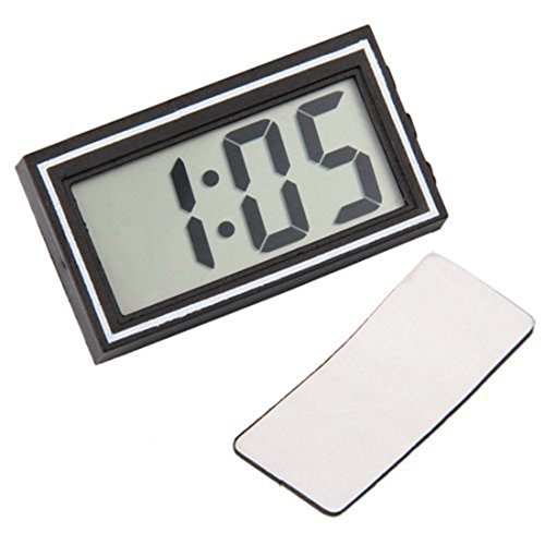 - Digital Lcd Car Dashboard Desk Date Time Calendar Clock Auto Electronic Truck Mini