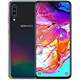 "Samsung Galaxy A70 128GB/6GB SM-A705MN/DS 6.7"" HD+ Infinity-U 4G/LTE Factory Unlocked Smartphone (International Version, No Warranty) (Black)"