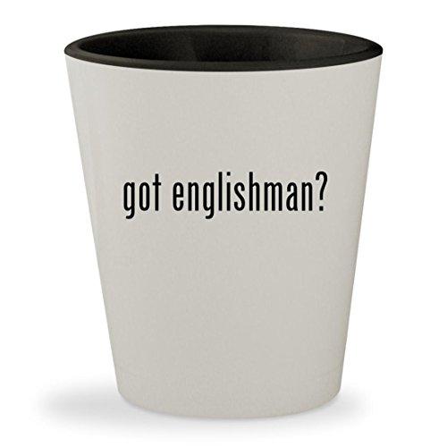 [got englishman? - White Outer & Black Inner Ceramic 1.5oz Shot Glass] (Fat Scotsman Costume)
