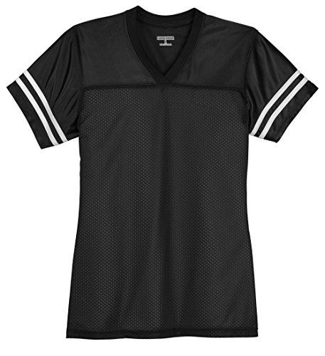 Kamal Ohava Women's Replica Football Jersey, Black/White, L (Replica Football Jersey)