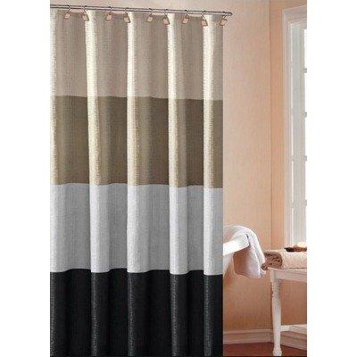 - Duck River Textiles - Home Decorator Mildew Resistant Fabric Shower Curtain Liner Waterproof | Water Repellent & Antibacterial - 70 X 72 Inch - Silver