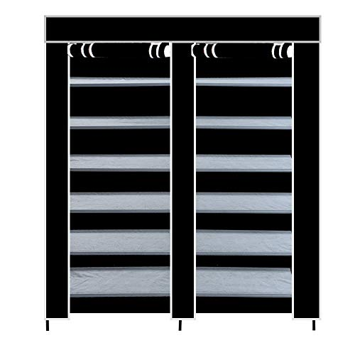 Winner666 Household Home Practical Double Row 7Layers 6 Grid Waterproof Shoes Rack Roller Blind Boots Cabinet Container (Ship from USA)