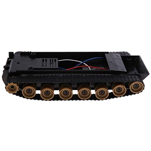 Kesoto DIYロボットキット 科学実験おもちゃ Arduino 51 130用 3-9V ライトショック スマートロボットタンク車のシャーシ プラスチック製