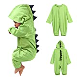Excellent  Lanhui Sunny Infant Baby Boy Girl Dinosaur Hooded Romper Jumpsuit Outfits Clothes (3-6Months, Green)