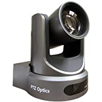 PTZOptics 2MP Full HD Indoor PTZ Camera, 12x Optical Zoom, 1920x1080 at 60fps, USB 3.0, HDMI, IP Streaming, CVBS, 72.5 degree FOV, Gray