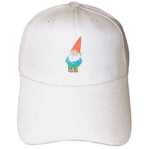 [EvaDane - Funny Cartoons - Gnome - Caps - Adult Baseball Cap (cap_123988_1)] (Gnome Hats)