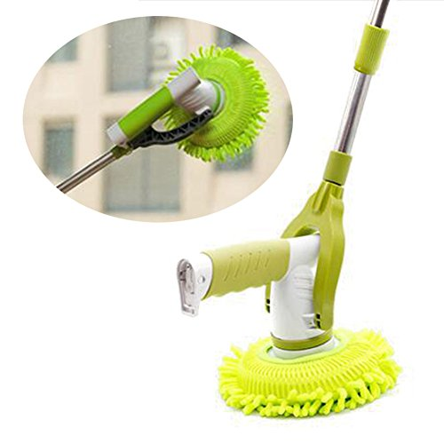 Lolicute Adjustable 360 Rotating Electric Mop Household Use Charging Cleaning Brush Cleaning Window Floor Automatic Mop(Green) by Lolicute