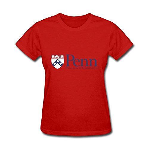 Women's NCAA University Of Pennsylvania Penn UPenn Quakers Logo Short Sleeve T-Shirt
