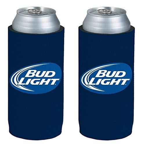 - Kolder Licensed Beer Can Bottle Neoprene Beverage Huggie Holders (Bud Light Logo - Tall Boy 24oz 2-Pack)