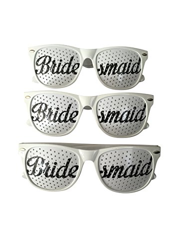 Unik Occasions Bridesmaids Wedding Party Sunglasses - Set of 3 by Unik Occasions