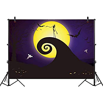 allenjoy 7x5ft happy halloween backdrop for 2018 pumpkin jack theme photo studio photography pictures background nightmare before xmas christmas party home