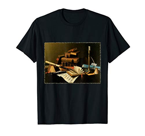 (Music and Literature by William Harnett T-Shirt)