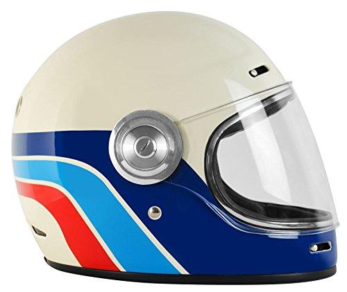 Amazon.es: Origine Vega - Casco integral de fibra de vidrio, estilo Café Racer, vintage L Classic White