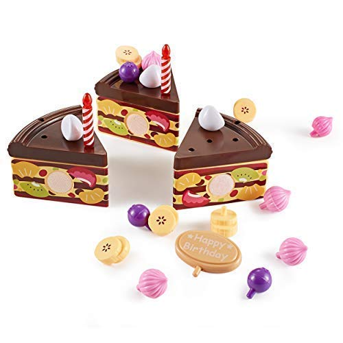 Think Gizmos Play Party Cake TG713 - Party Cake Play Set for Kids Aged 3 4 5 6 by Think Gizmos (Image #5)