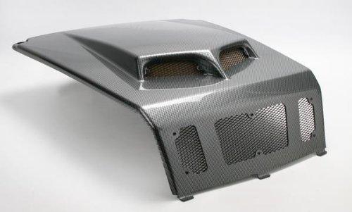 (2009 Polaris Ranger RZR 800 S Custom Hood Scoop - Carbon Fiber Black, Manufacturer: Maier Mfg, RZR SCOOPED HOOD CF BLK)