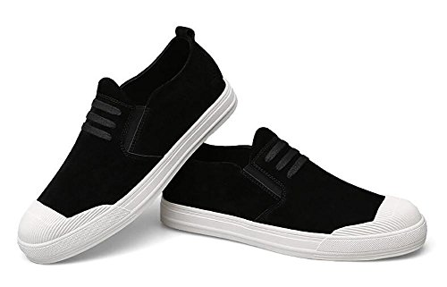 SYYAN Hombres Fregar Respirable Bajo Hecho A Mano Moda Zapatillas Al Aire Libre Ocio , black , 44