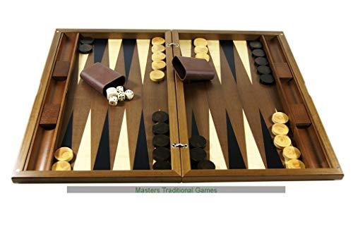 (Dal Negro York Walnut Backgammon Set )