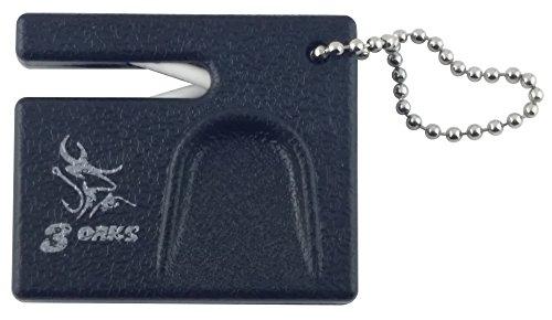 Ceramic Pocket Knife Sharpener w/ Thumb Guard and Keychain ()
