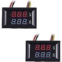 """ZHITING 2 STK. 0,28 """"LED-voltmeter ampèremeter, rood en blauw digitale multimeter weergave spanning stroomptester, DC 0…"""