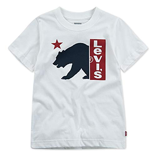- Levi's Boys' Toddler Graphic Logo T-Shirt, White Bear, 2T