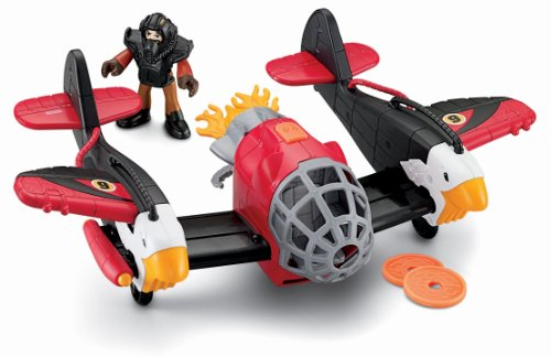 Fisher-Price Imaginext Sky Racers Twin Eagle with Bonus Plane - coolthings.us