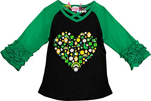 fa5ac0c78 Boutique Toddler Girls St Patrick's Day Tshirt All Things Leprechaun Heart  Raglan Top ...